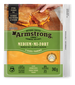 Armstrong Medium Cheddar Cheese Slices 240 g