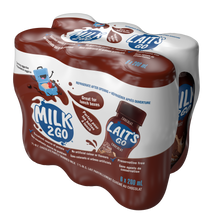 Load image into Gallery viewer, Milk2Go Chocolate Partly Skimmed 1% Milk 6 x 200 mL