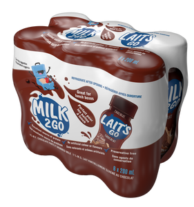 Milk2Go Chocolate Partly Skimmed 1% Milk 6 x 200 mL