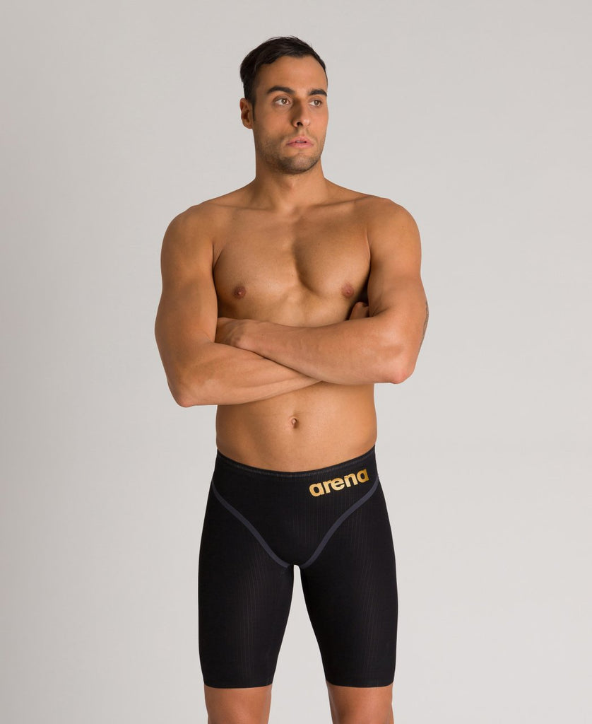 Arena Men's Powerskin Carbon Core FX Jammer Black-Gold