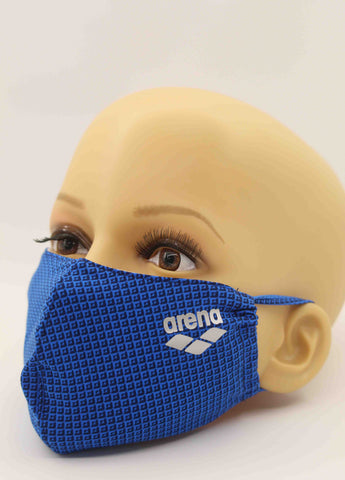 Arena Face Mask Grid Blue