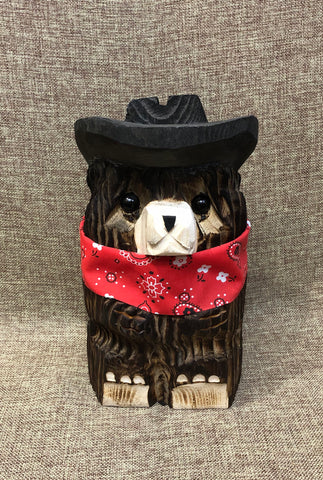 "9"" Brown Cowboy Bear"