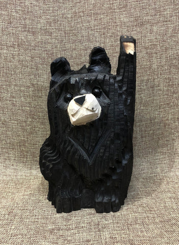 "9"" Black Waving Bear"