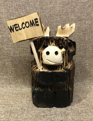 "9"" Moose Tilt With Sign"