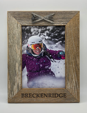 5X7 Breckenridge Skis Vertical