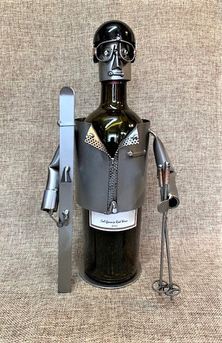 Skier Wine Caddy