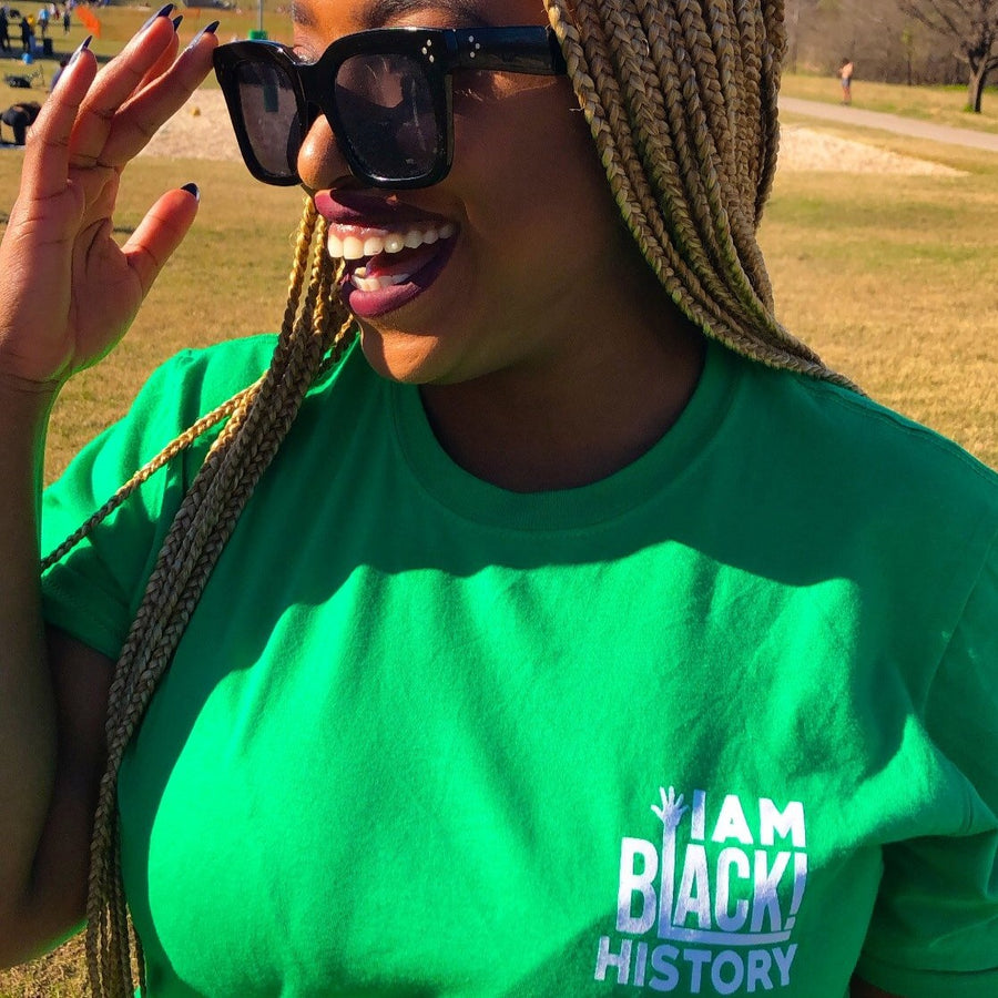 Green I AM Black History Shirt