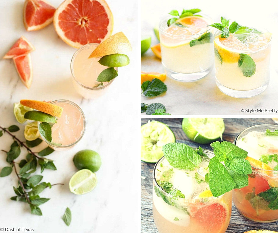 Cooling Grapefruit Mint Drink Recipes {Friday Finds}