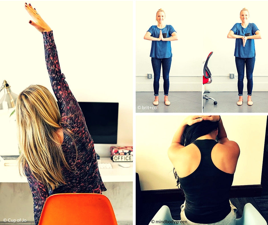 Simple Stretches To Do At Your Desk {Friday Finds}