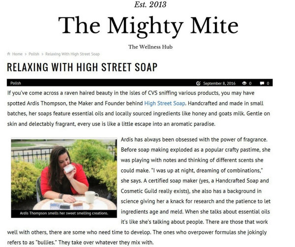 High Street Soap + the Mighty Mite