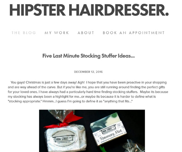 High Street Soap Specialty Soaps - Hipster Hairdresser Blog