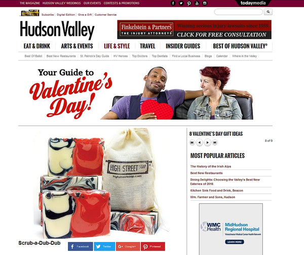 High Street Soap Mentions + Press | Valentines Day Gift Guide