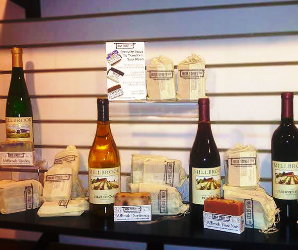 High Street Soap and Millbrook Vineyards and Winery Specialty Wine Soap