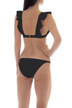 Load image into Gallery viewer, Ruffle Black Bikini