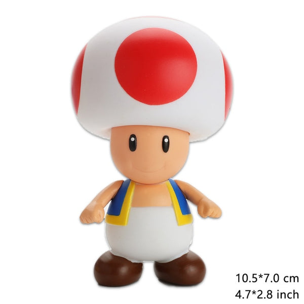 Super Mario Bros Luigi Mario Action Figure PVC Super Mario Figure Model Doll 13cm Figure Toys For Children  Kids Toy