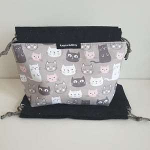 KITTENS - BLACK & GREY - Reversible bag