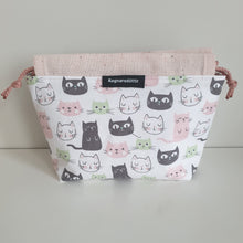 Load image into Gallery viewer, KITTENS - PINK & WHITE - Reversible bag