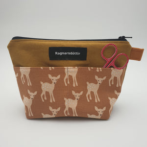 GOLDEN-BROWN BAMBI - Notions Pouch