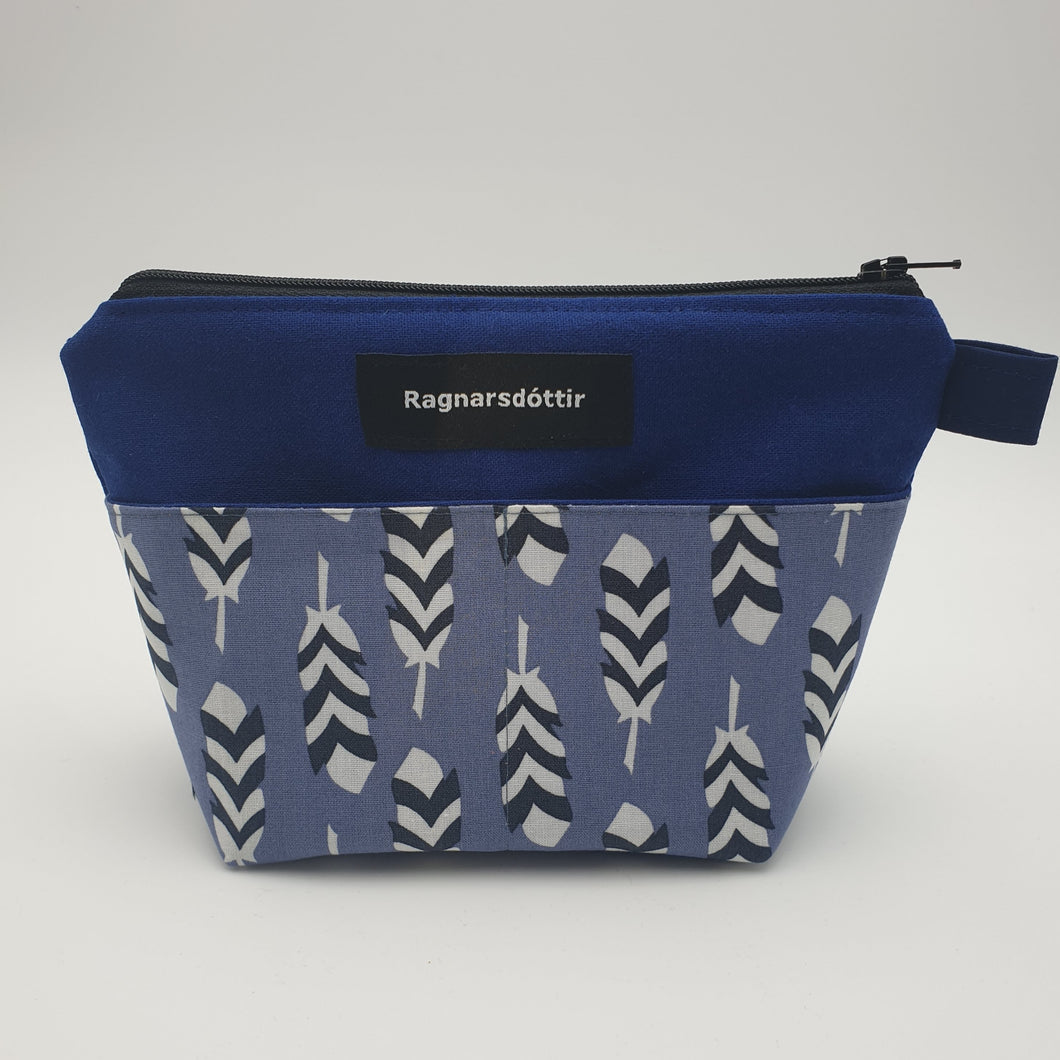 BLUE FEATHERS - Notions Pouch
