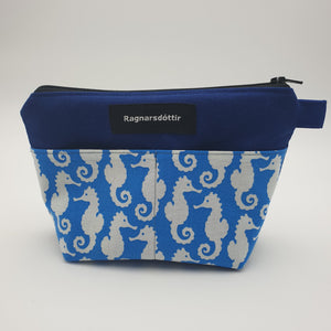BLUE SEAHORSES - Notions Pouch