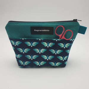 TEAL BUTTERFLIES - Notions Pouch