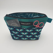 Load image into Gallery viewer, TEAL BUTTERFLIES - Notions Pouch