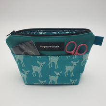 Load image into Gallery viewer, TEAL BAMBI - Notions Pouch