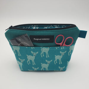 TEAL BAMBI - Notions Pouch