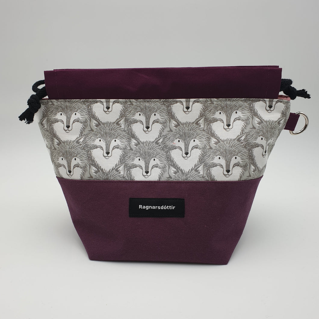 PLUM FOXES - SMALL Project Bag