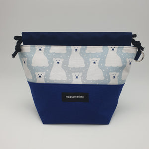 BLUE POLAR BEARS - SMALL Project Bag