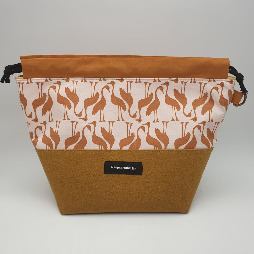 GOLDEN-BROWN STORKS - LARGE Project Bag