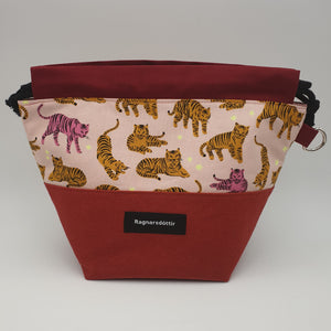 COUNTRY RED CATS - SMALL Project Bag