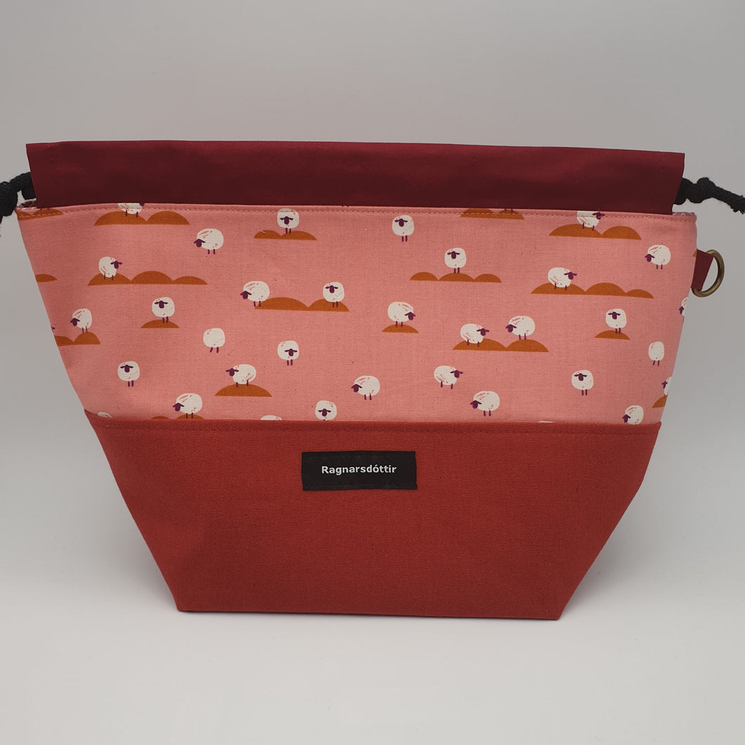 COUNTRY RED SHEEPS - LARGE Project Bag