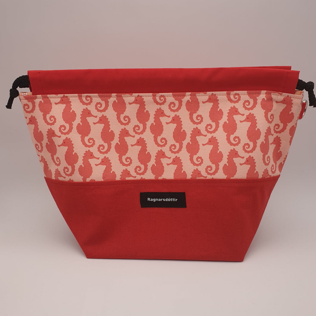 RED SEAHORSES - LARGE Project Bag
