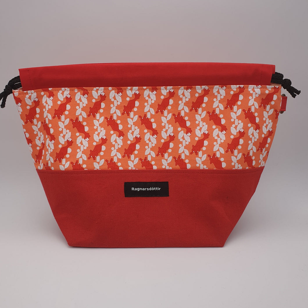 RED FOXES - LARGE Project Bag