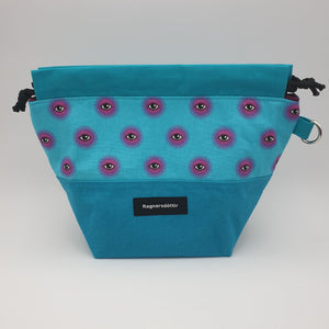 TURQUOISE GAZE - SMALL Project Bag