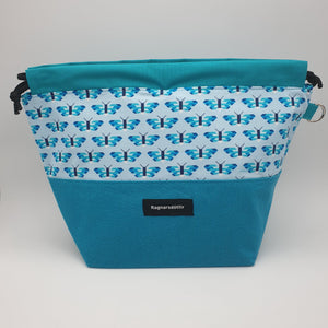 TURQUOISE BUTTERFLIES - LARGE Project Bag