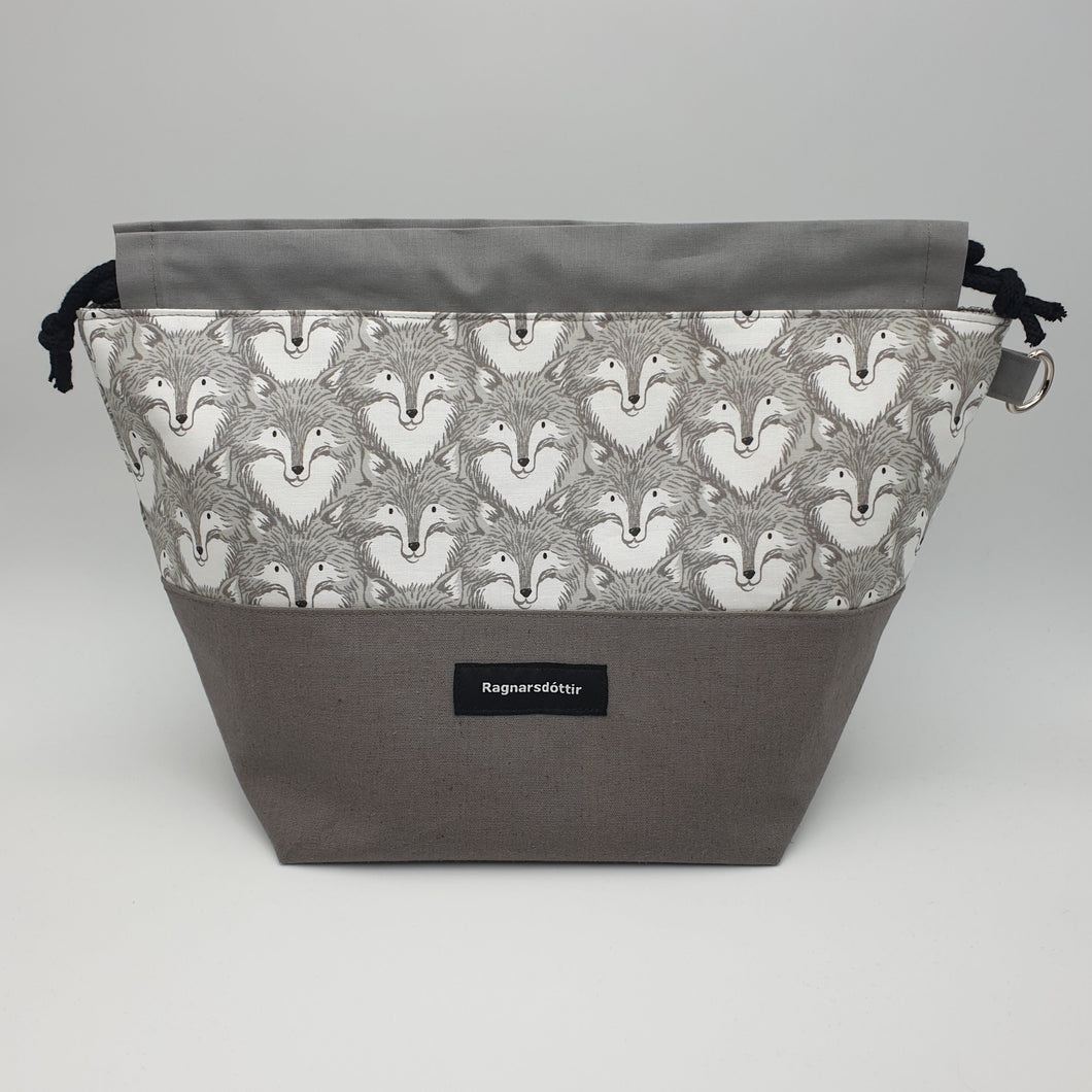 WARM-GREY FOXES - LARGE Project Bag