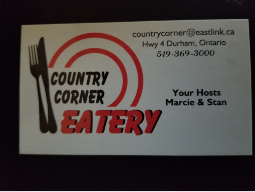 Country corner eatery (N0g 1r0) - Gift Card