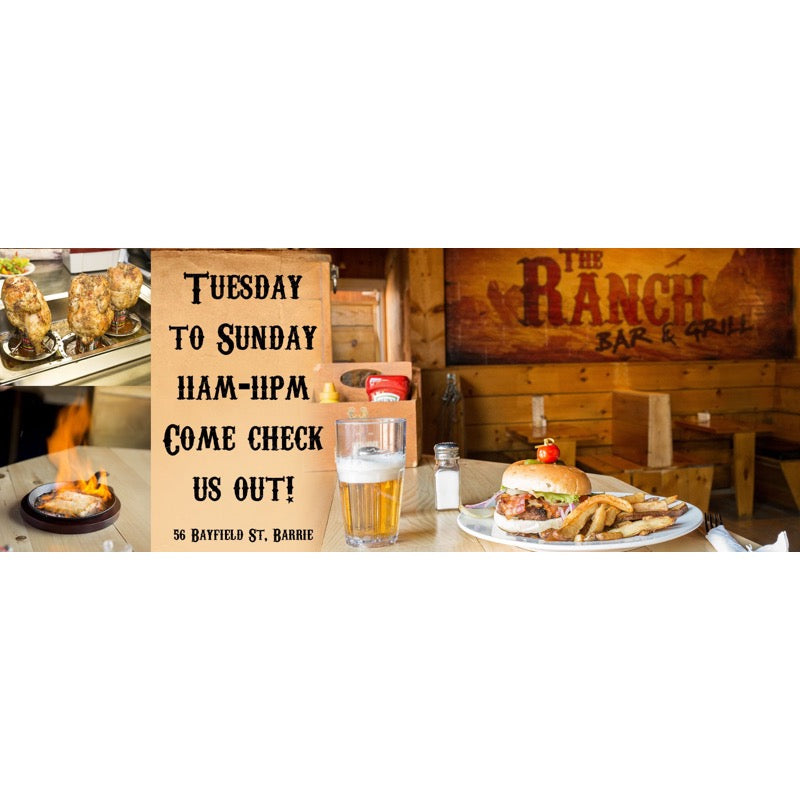 The Ranch 2.0 Bar & Grill (L4M3A5) - Gift Card