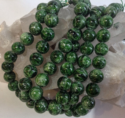 12mm Chrome Diopside Rondes