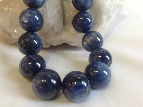 18mm Cyanite Bleu Ronds - Tres Rare