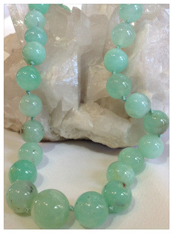 Chrysoprases Ronds 12-18mm