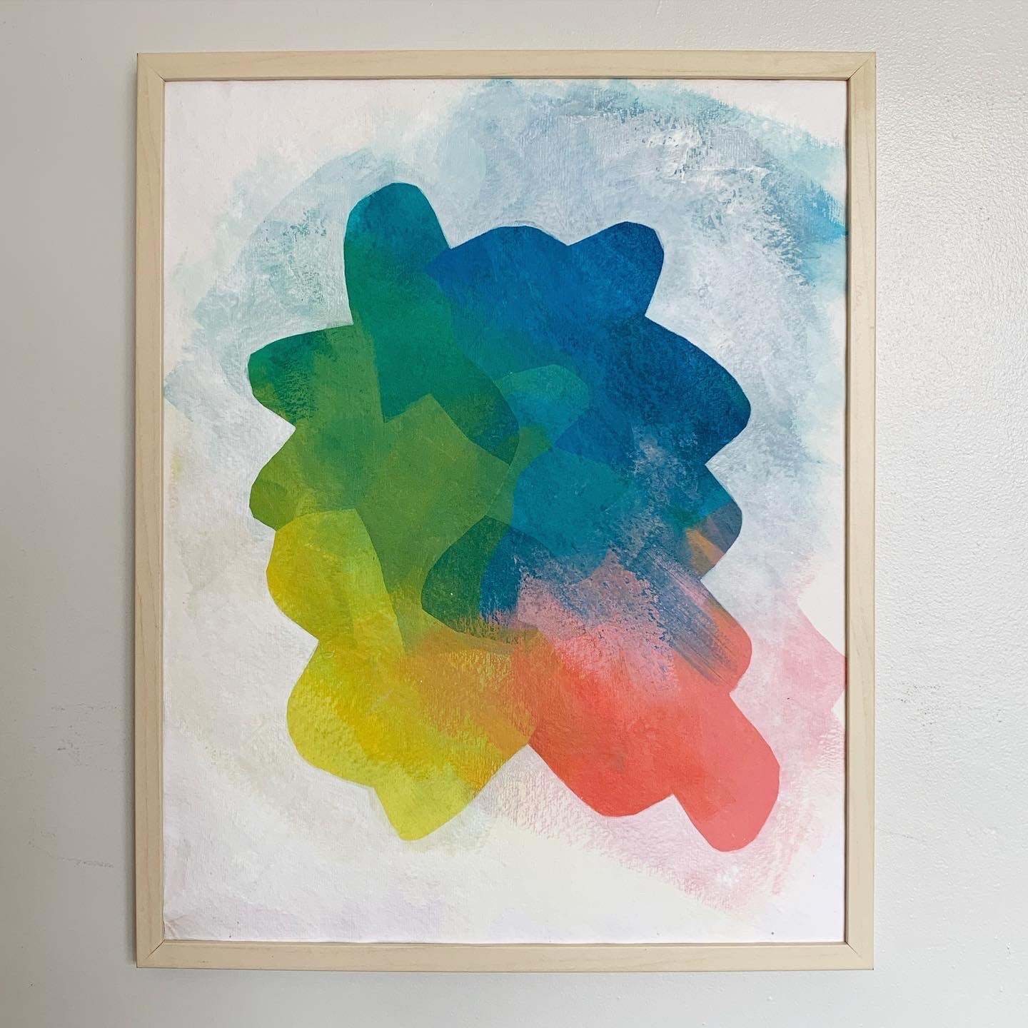 "Kitchen Prisms, acrylic on raw cotton paper, 16"" x 20"""