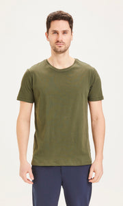 KnowledgeCotton Apparel tee shirt vert basic