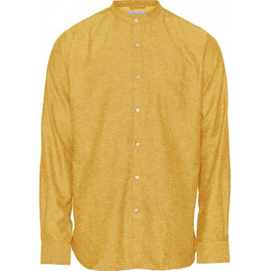 Chemise col Mao - Jaune or