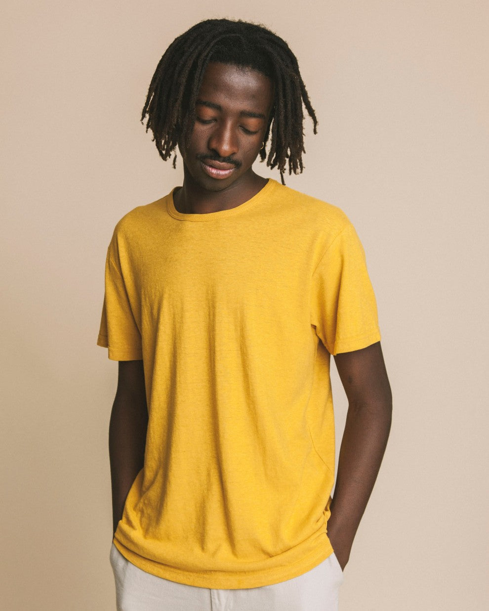 Tee-Shirt Homme - Jaune Moutarde