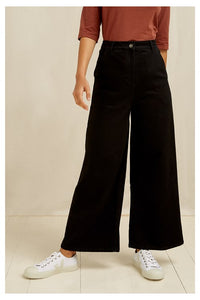 Pantalon large en Denim - Noir