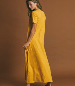 Robe longue - Jaune Moutarde