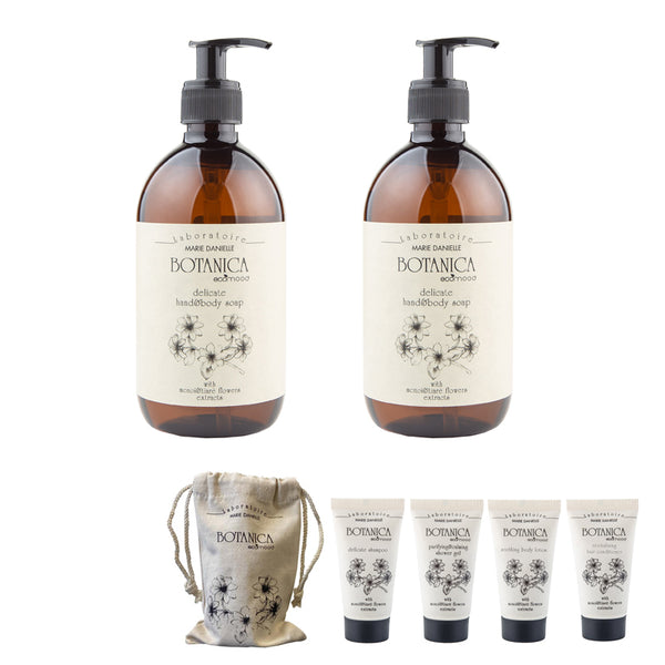 BOTANICA SPECIAL KIT: 1 HAND&BODY SOAP 500 ML  + 1 HAND&BODY LOTION 500 ML (IN OMAGGIO 1 TRAVEL KIT)